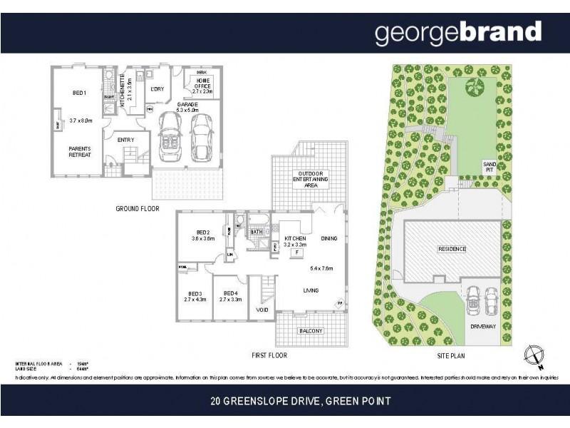 20 Greenslope Drive, Green Point NSW 2251 Floorplan