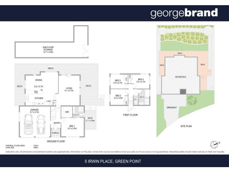 5 Irwin Place, Green Point NSW 2251 Floorplan