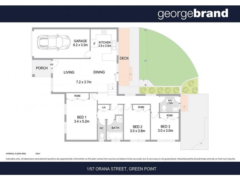 1/57 Orana St, Green Point NSW 2251 Floorplan