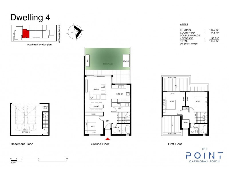 4/2 Actinotus Avenue, Caringbah South NSW 2229 Floorplan