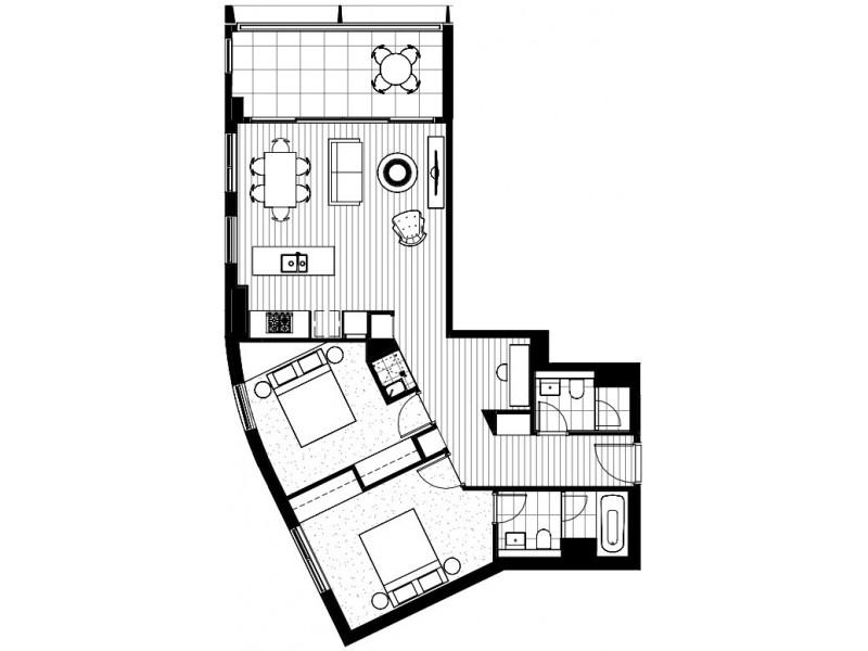 Lv 27/82 Hay Street, Haymarket NSW 2000 Floorplan