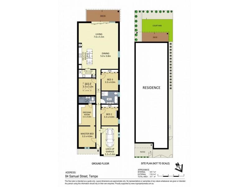 84 Samuel Street, Tempe NSW 2044 Floorplan