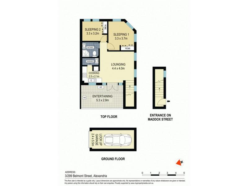 3/299 Belmont Street, Alexandria NSW 2015 Floorplan