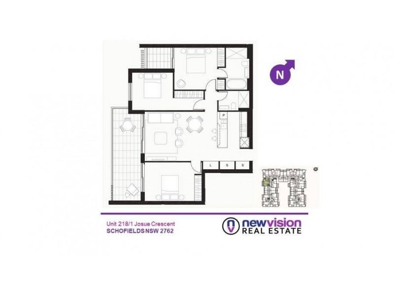 75/1 Josue Crescent, Schofields NSW 2762 Floorplan