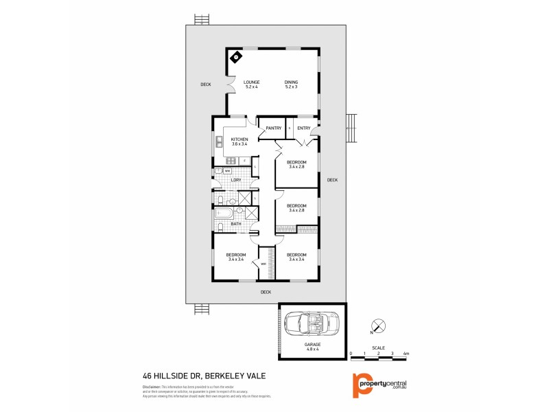 46 Hillside Drive, Glenning Valley NSW 2261 Floorplan