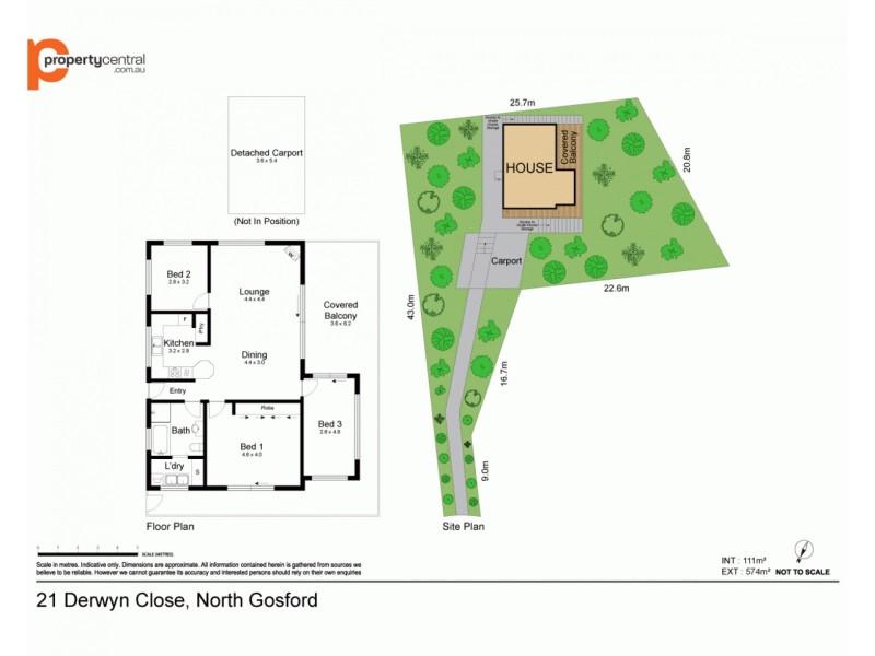 21 Derwyn Close, North Gosford NSW 2250 Floorplan