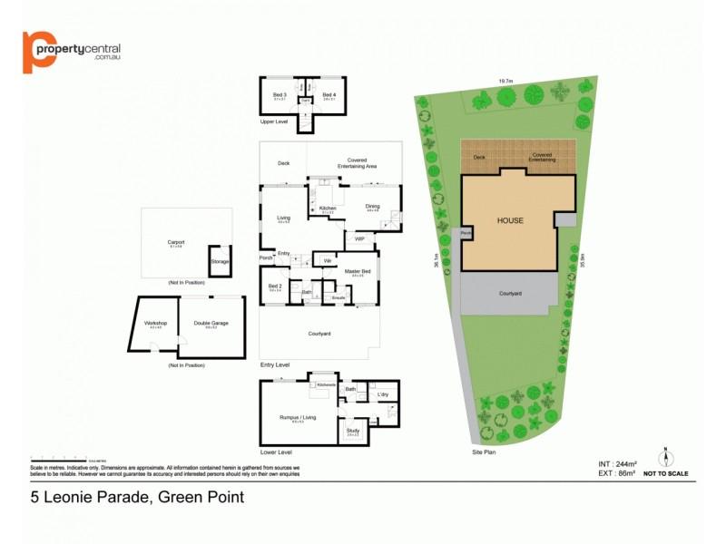 5 Leonie Parade, Green Point NSW 2251 Floorplan