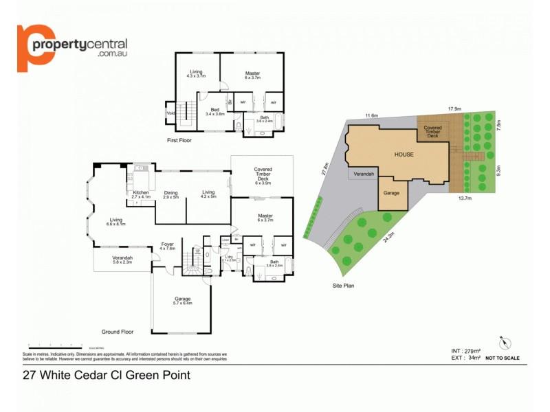 27 White Cedar Close, Green Point NSW 2251 Floorplan