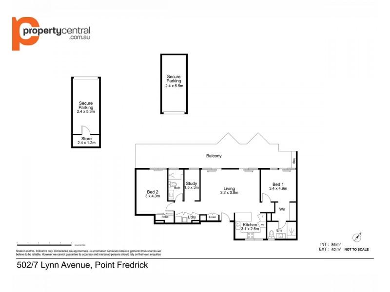 502/7 Lynn Avenue, Point Frederick NSW 2250 Floorplan