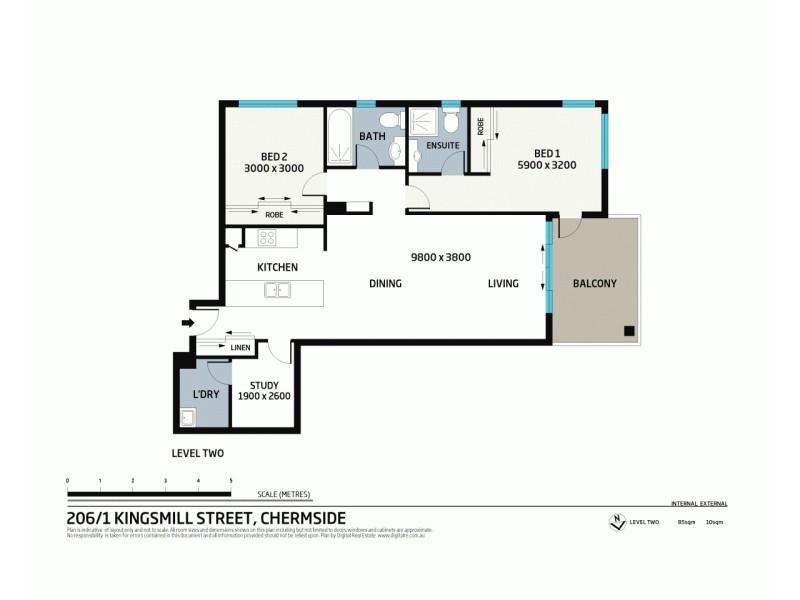 206/1 Kingsmill Street, Chermside QLD 4032 Floorplan