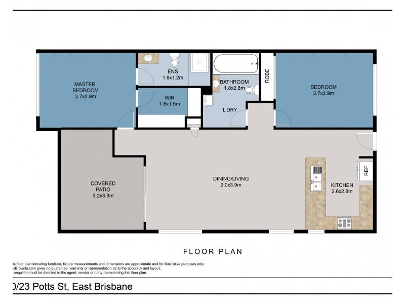 10/23 Potts Street, East Brisbane QLD 4169 Floorplan