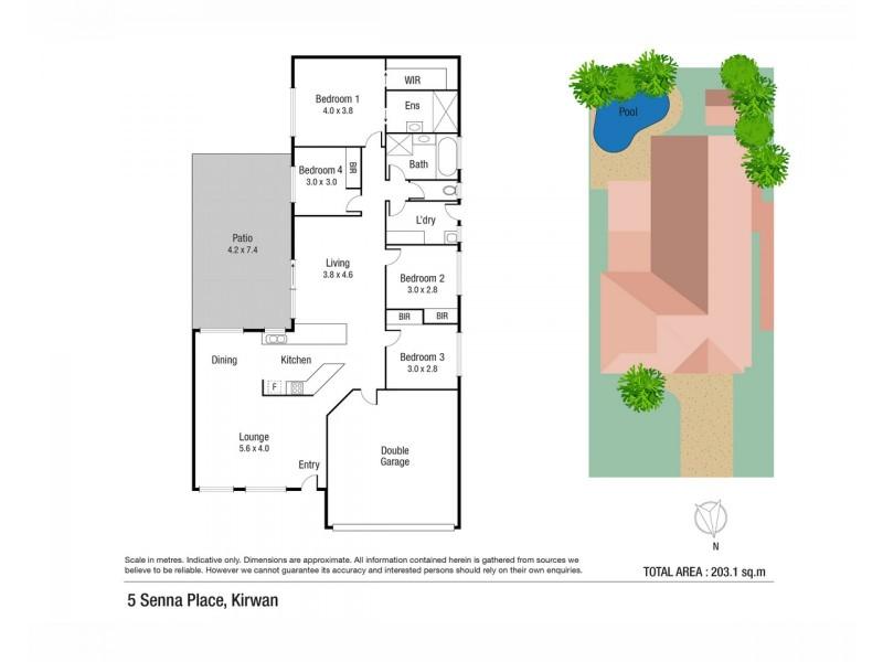 5 Senna Place, Kirwan QLD 4817 Floorplan