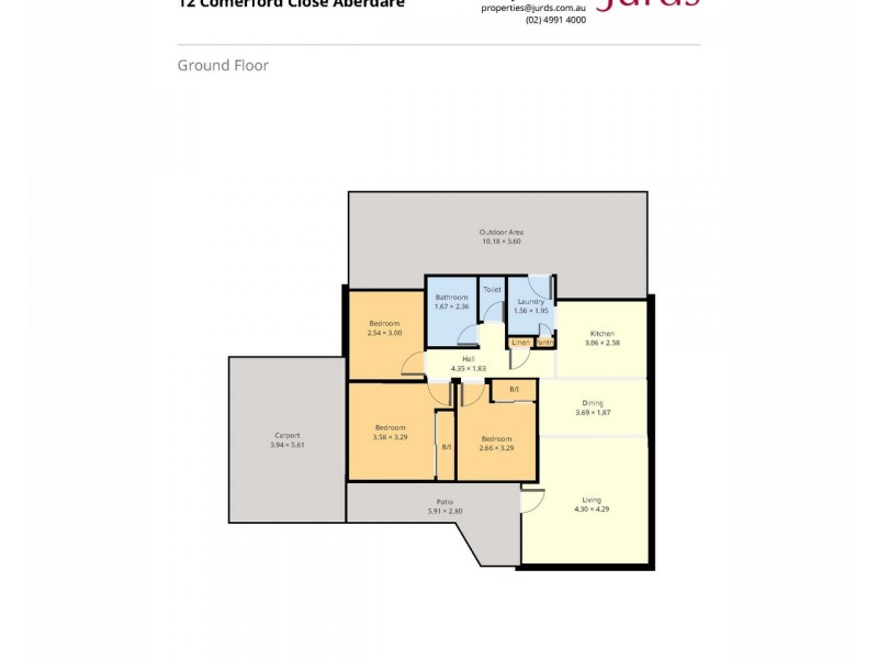12 Comerford Close, Aberdare NSW 2325 Floorplan