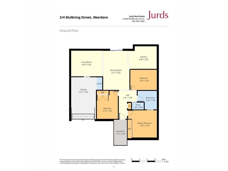 2/4 Mulbring Street, Aberdare NSW 2325 Floorplan