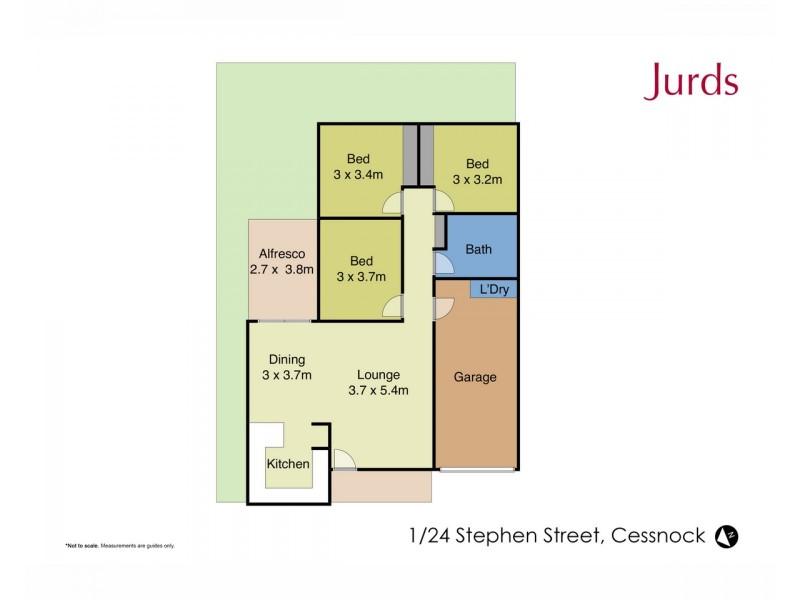 1/24 Stephen Street, Cessnock NSW 2325 Floorplan