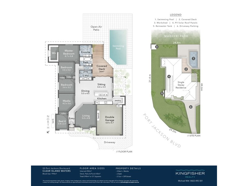 33 Port Jackson Boulevard, Clear Island Waters QLD 4226 Floorplan
