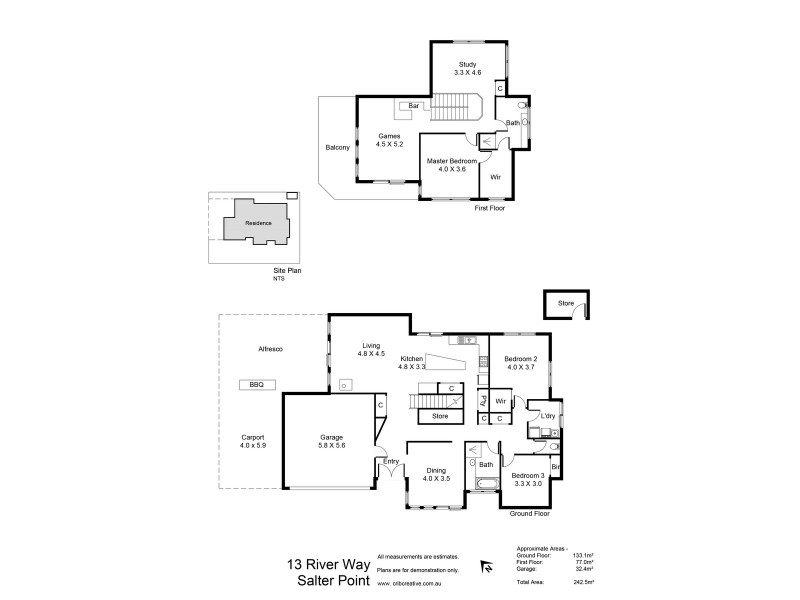 13 River Way, Salter Point WA 6152 Floorplan
