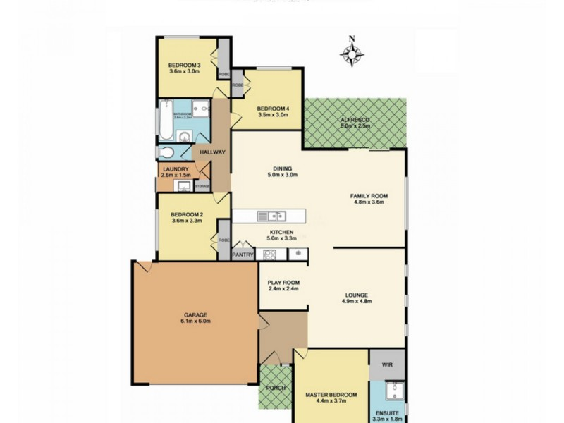 3 Woodridge Crescent, Doreen VIC 3754 Floorplan