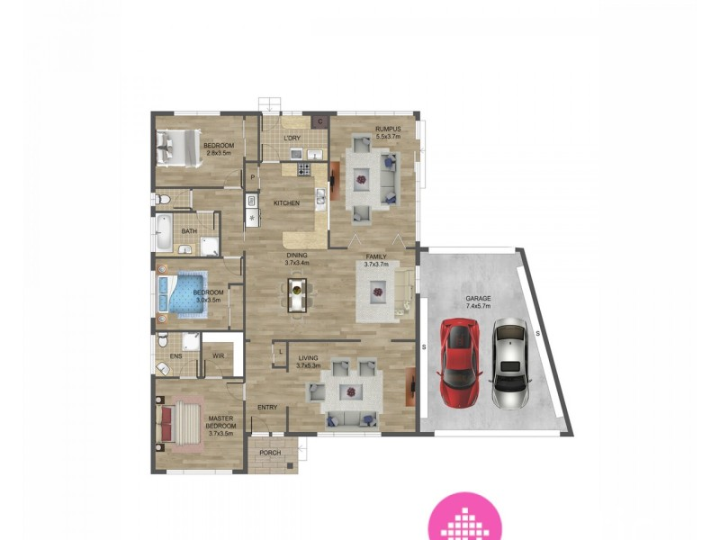 2 Asquith Court, Epping VIC 3076 Floorplan