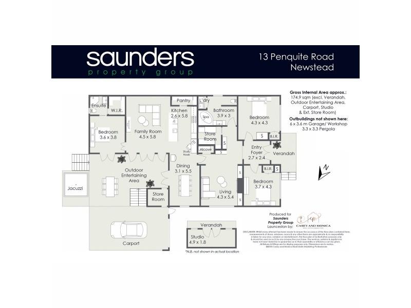 13 Penquite Road, Newstead TAS 7250 Floorplan