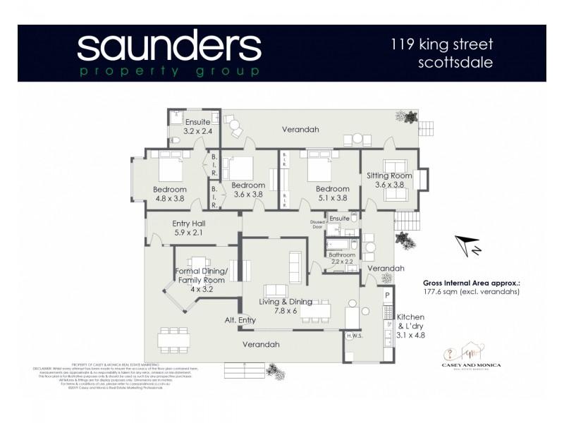 119 King Street, Scottsdale TAS 7260 Floorplan