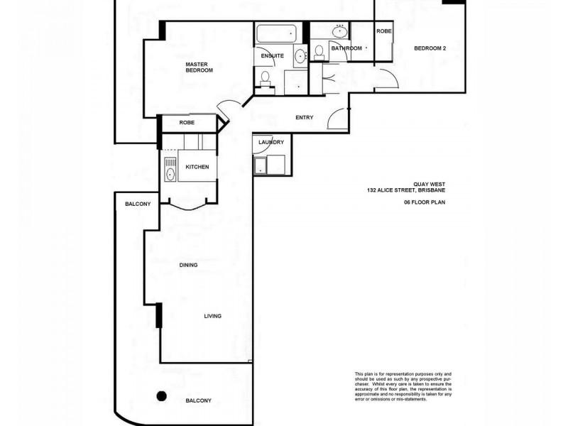 306/132 Alice Street, Brisbane City QLD 4000 Floorplan