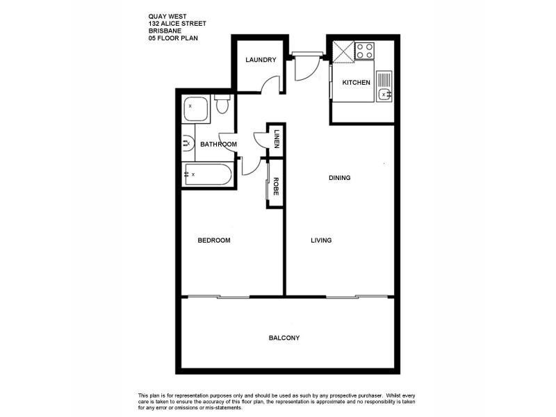 502/132 Alice Street, Brisbane City QLD 4000 Floorplan