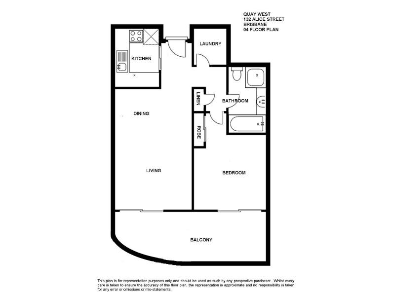 1704/132 Alice Street, Brisbane City QLD 4000 Floorplan