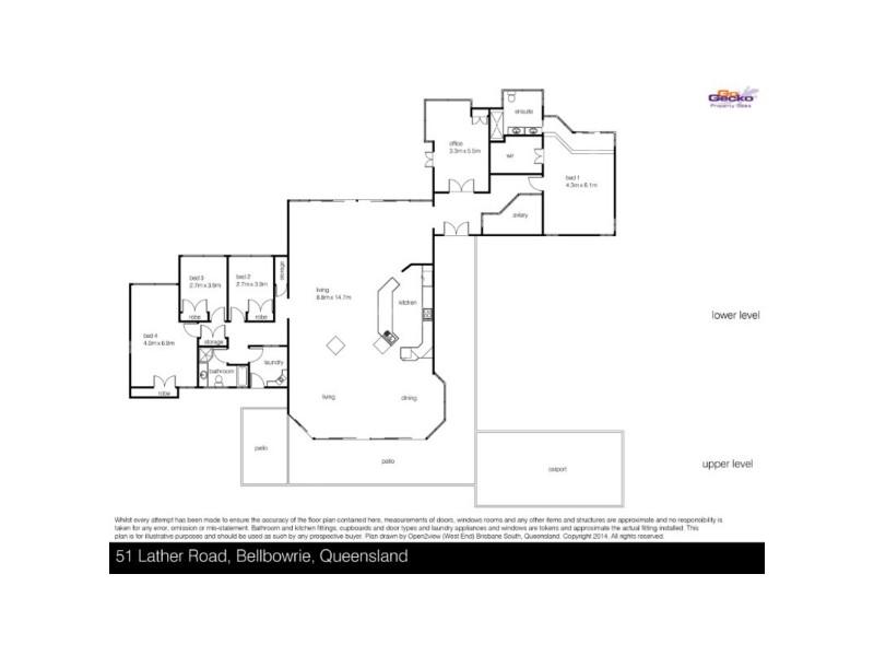 51 Lather Road, Bellbowrie QLD 4070 Floorplan