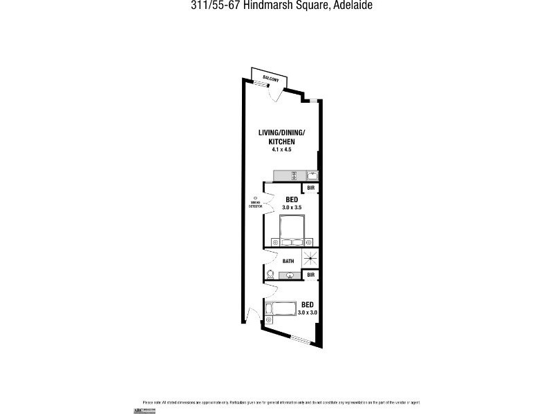 311/55-67 Hindmarsh Square, Adelaide SA 5000 Floorplan