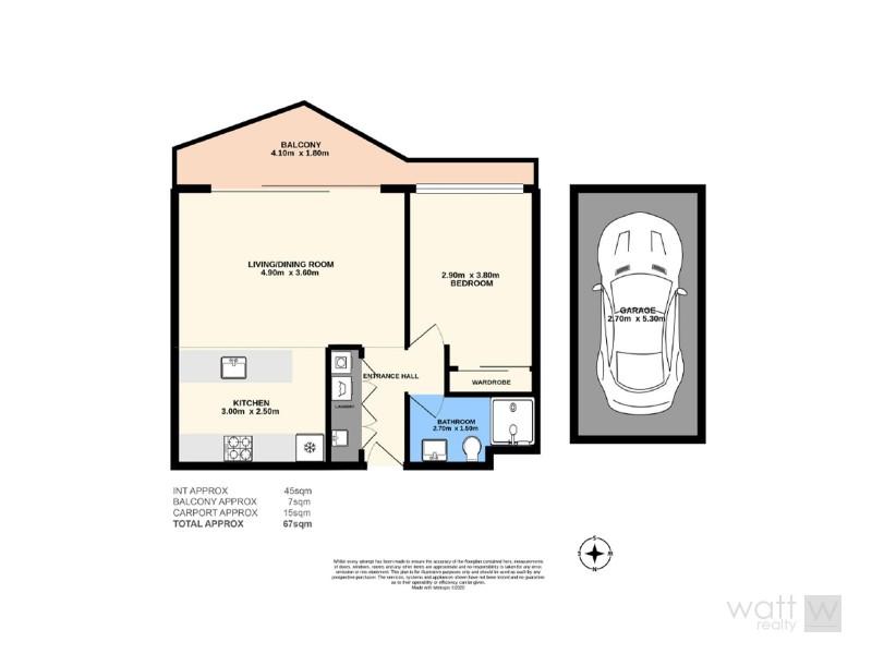 507/37B Harbour Road, Hamilton QLD 4007 Floorplan
