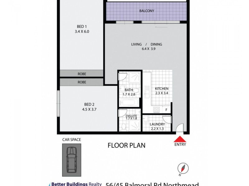 56/45-51 Balmoral Road, Northmead NSW 2152 Floorplan