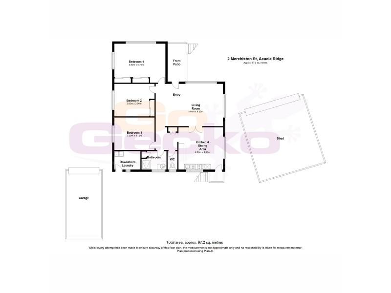 2 Merchiston Street, Acacia Ridge QLD 4110 Floorplan