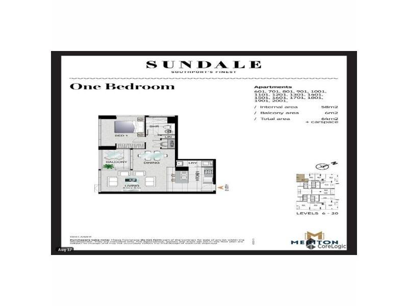 901/2 Como Crescent, Southport QLD 4215 Floorplan
