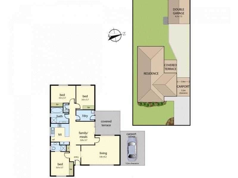 11 Cicada Court, Carrum Downs VIC 3201 Floorplan