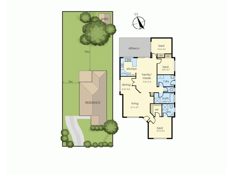 30 Laurel Crescent, Carrum Downs VIC 3201 Floorplan