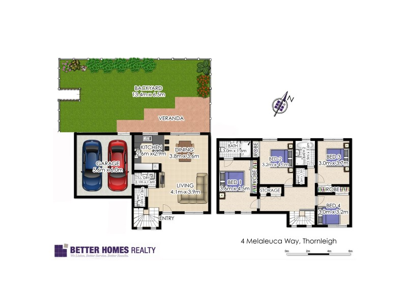 4 Melaleuca Way, Thornleigh NSW 2120 Floorplan