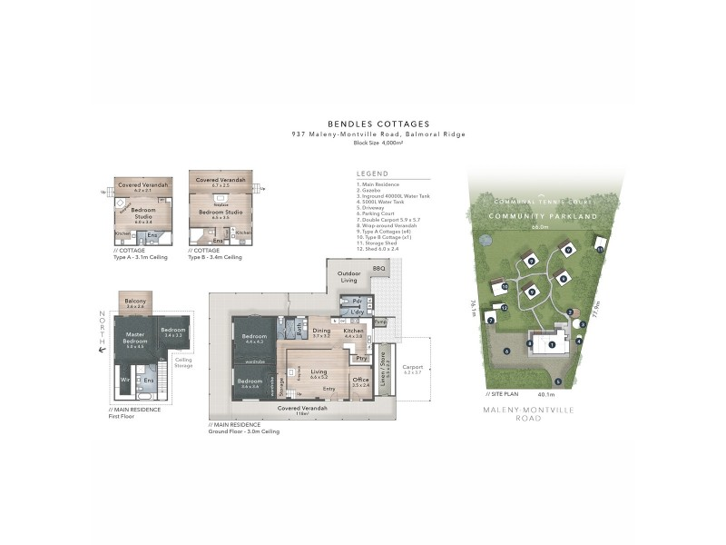 937 Maleny Montville Road, Balmoral Ridge QLD 4552 Floorplan