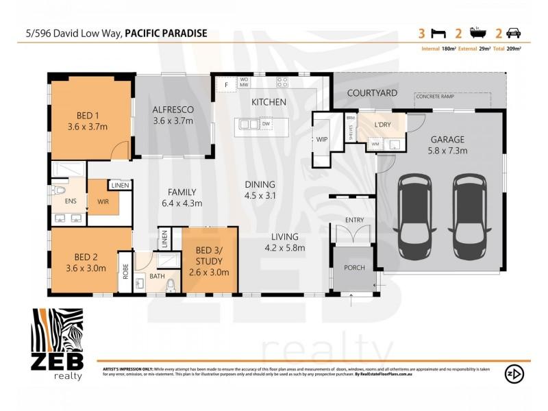 5/596 David Low Way, Pacific Paradise QLD 4564 Floorplan