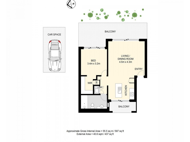 8/15 Lytton Road, Bulimba QLD 4171 Floorplan