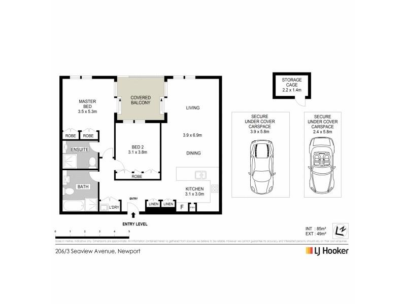 206/3 Seaview Avenue, Newport NSW 2106 Floorplan