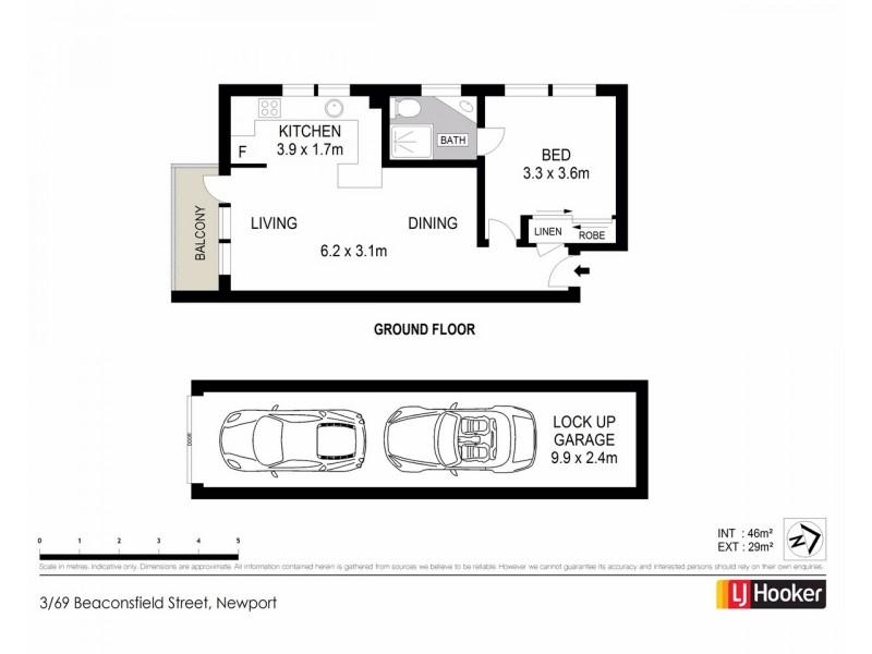 3/69 Beaconsfield Street, Newport NSW 2106 Floorplan
