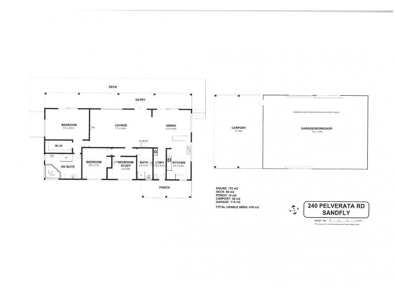 240 Pelverata Road, Sandfly TAS 7150 Floorplan