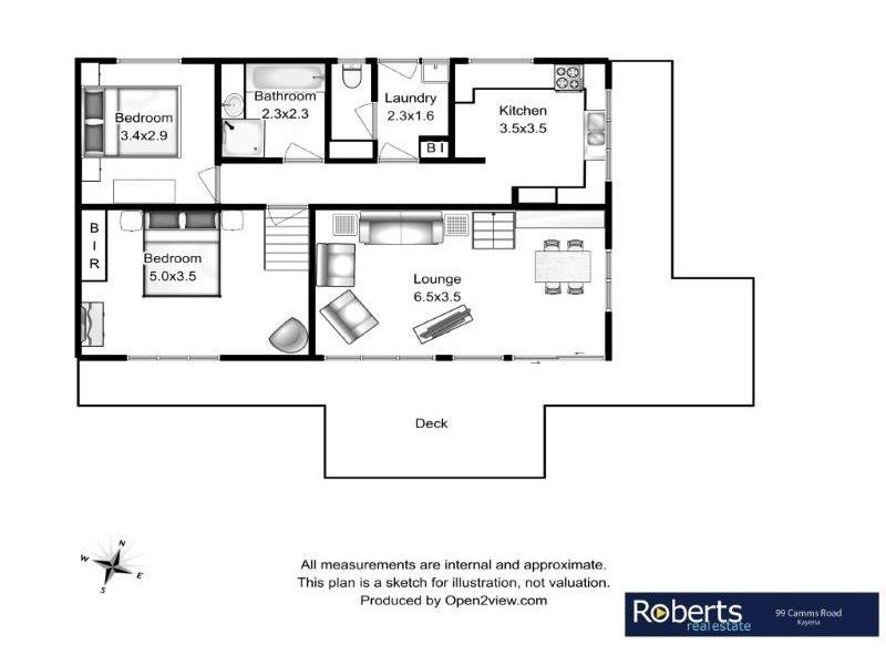 99 Camms Road, Kayena TAS 7270 Floorplan
