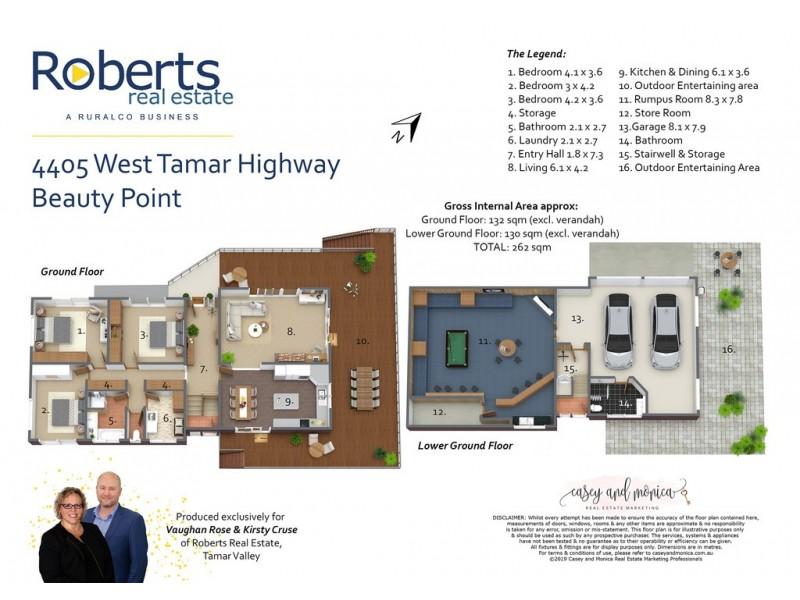 4405 West Tamar Highway, Beauty Point TAS 7270 Floorplan