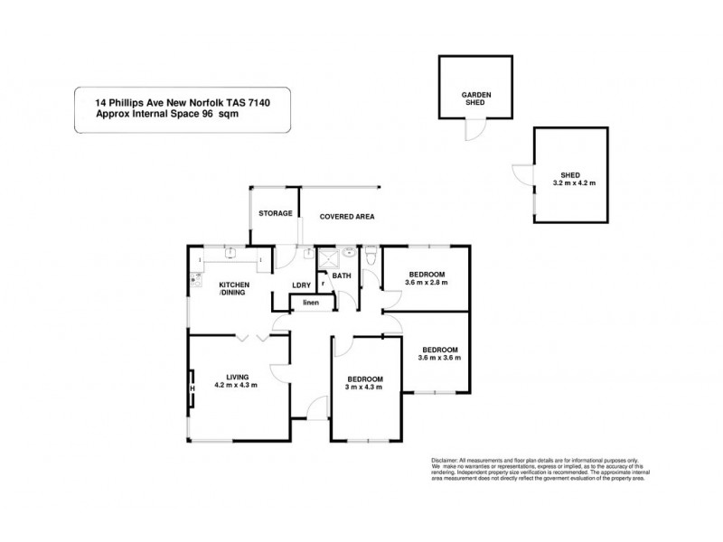 14 Phillips Avenue, New Norfolk TAS 7140 Floorplan