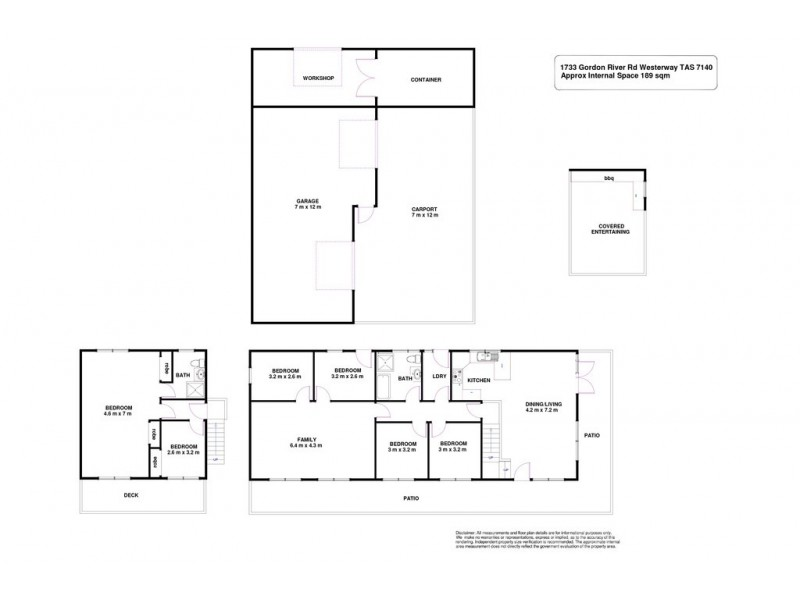 1733 Gordon River Road, Westerway TAS 7140 Floorplan