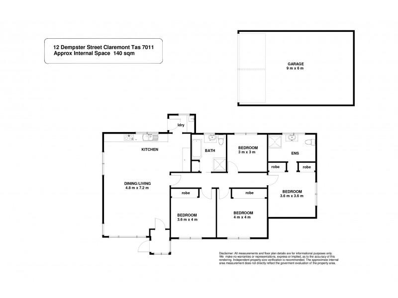 12 Dempster Street, Claremont TAS 7011 Floorplan