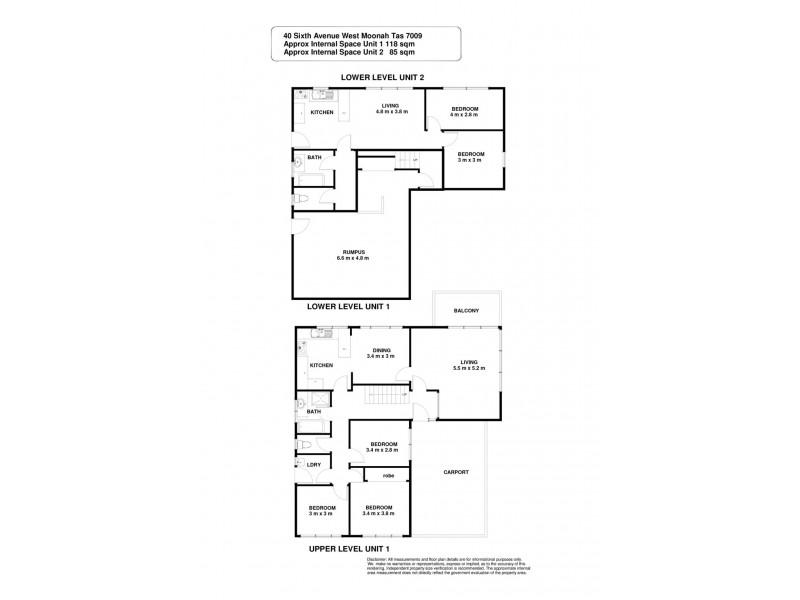 40 Sixth Avenue, West Moonah TAS 7009 Floorplan