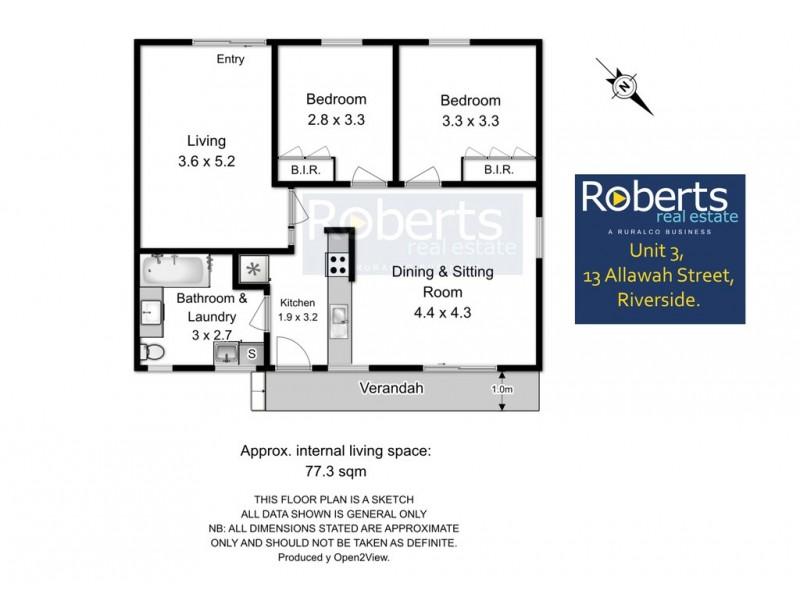 3/13 Allawah St, Trevallyn TAS 7250 Floorplan